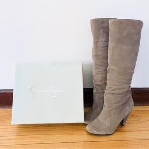 Jessica Simpson grey suede tall boots